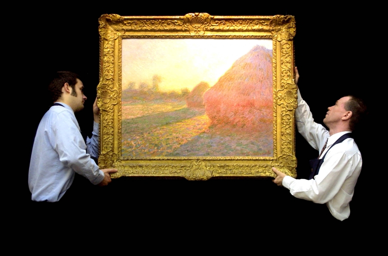 Claude Monet haystack painting fetches $160m at NY auction