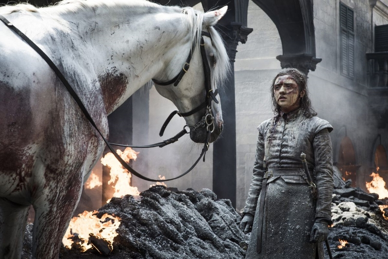 Game of Thrones fans think Arya's white horse reveals what happens in final episode
