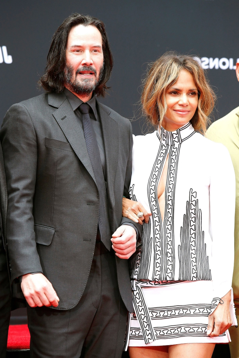 Entertainment Halle Berry Supports Keanu Reeves At His