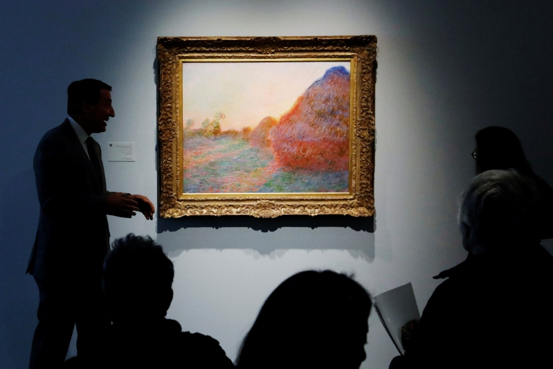 US: Monet 'Haystacks' painting sells for record $110 7
