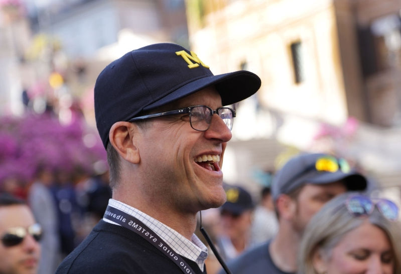 Sleepover at Jim Harbaugh's house is up for auction. Here's the price