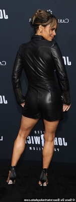 Entertainment Halle Berry Shows Off Dramatic New Undercut Hair Style As She Wows In Leather At John Wick 3 Parabellum La Premiere Pressfrom Us