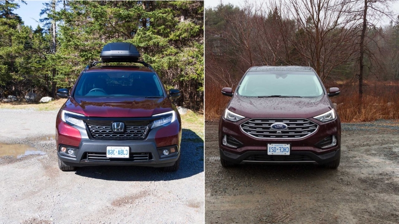 Reviews Head To Head 2019 Ford Edge Vs 2019 Honda Passport