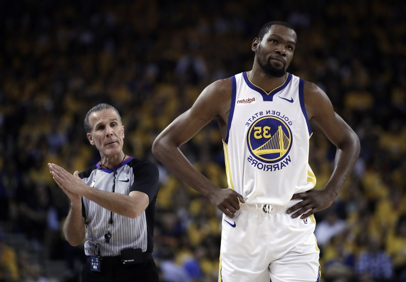 Kevin Durant will not play in Game 2 against the Trail Blazers