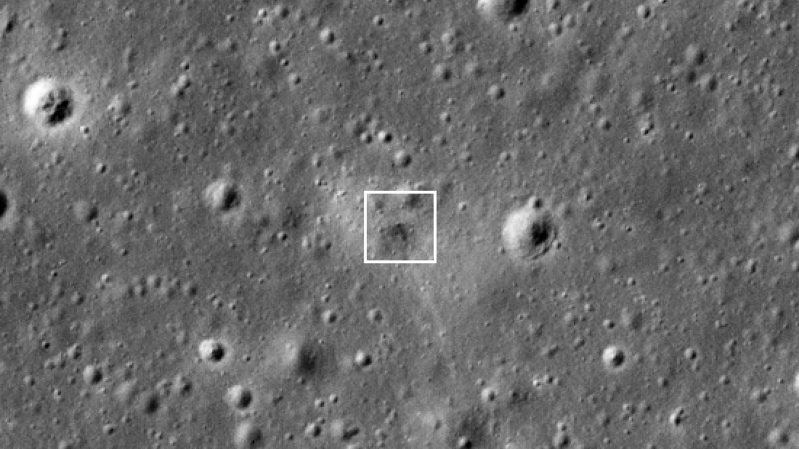 NASA spacecraft spots doomed lunar lander's crash site on Moon's surface