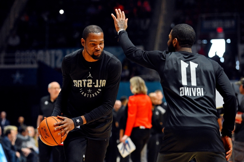 Report: Kyrie Irving, Kevin Durant to take 'a long look' at signing with the Nets
