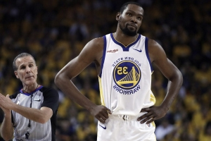 Report: Kevin Durant out rest of Warriors-Trail Blazers