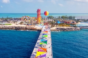 Royal Caribbean's New Private Island Has A 135-Foot-Tall Waterslide And A Swim-Up Bar To Hit Up After
