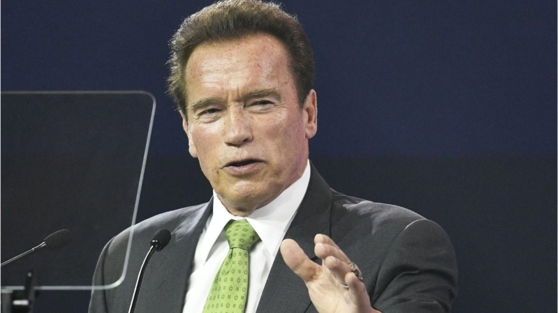 World: Arnold Schwarzenegger blindsided, dropkicked in the