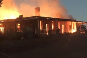 Historic Ora Banda Inn, infamous pub once owned by Don Hancock in WA's Goldfields, gutted by fire