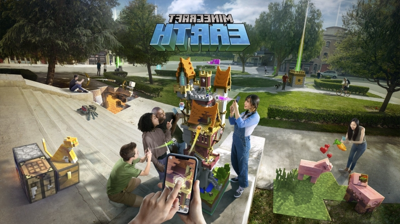 'Minecraft Earth' makes the world your augmented reality playground