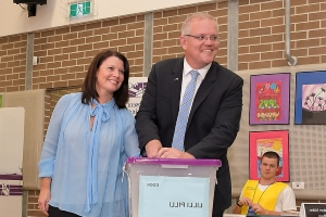 'This election is not about my future': Scott Morrison refuses to say if he will stay on as Liberal leader if he loses - and shies away from predicting the result after Bill Shorten declared Labor will win