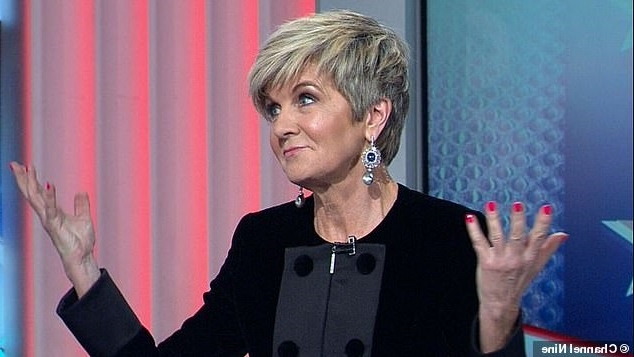'You're wearing black… for a wake?' Julie Bishop wears a black dress for live TV coverage of the election – but says there's a simple explanation