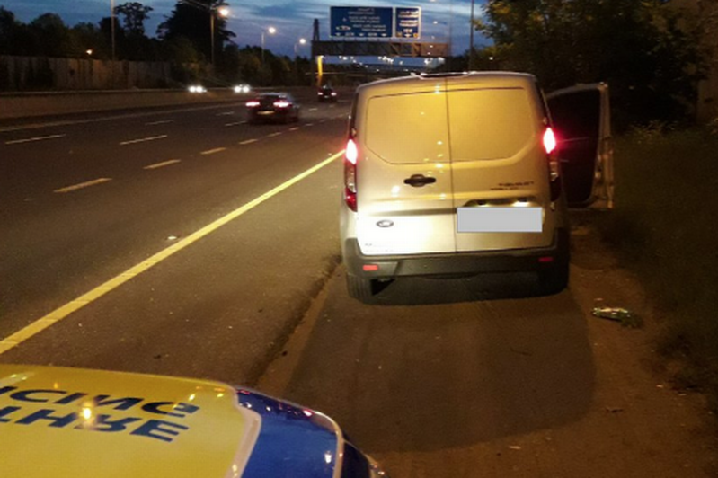 Gardai check van pulled in on M50 hard shoulder and find driver playing saxophone