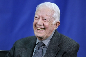 Jimmy Carter does not teach Sunday school as he continues to recover from hip replacement surgery