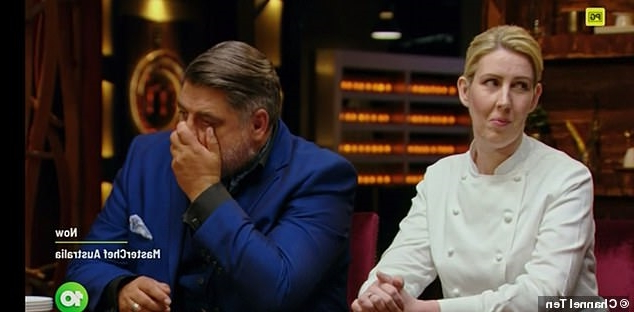 Is this MasterChef's most heart-breaking moment EVER?Contestant Jess Hall fights back tears as she watches her meringue fall to pieces while plating up the dessert in front of judging panel