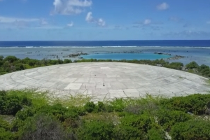The U.S. put nuclear waste under a dome on a Pacific island. Now it's cracking open.