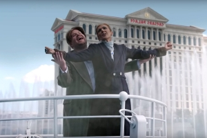 Céline Dion & James Corden Recreate Titanic in Las Vegas' Bellagio Fountains for Carpool Karaoke