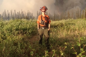 Canada: Ontario forest firefighters push blaze away from