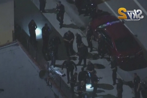 Police: Driver Shot By LAPD Officers After Getting Out Of Car With A Gun During Traffic Stop