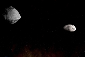 Asteroid nearly a mile wide seen approaching with its own moon