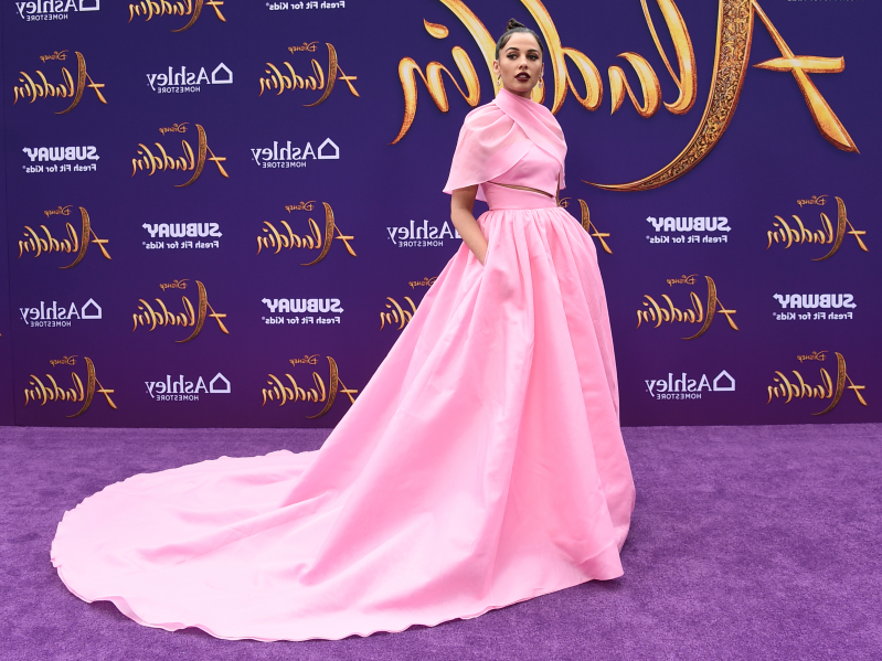 'Aladdin' star Naomi Scott looked like a real-life Disney princess on the red carpet