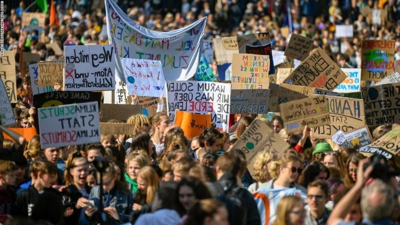 Global Climate Strike: Record number of students walk out