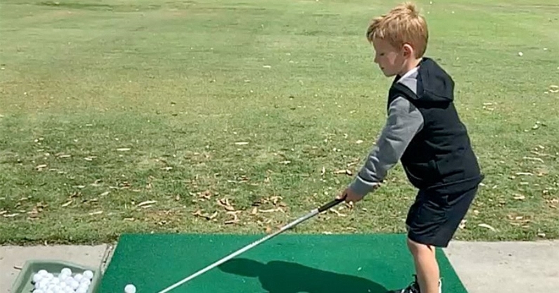 Jessica Simpson's Son Ace Shows Off His Impressive Golf Skills: 'Already Borrowing His Dad's Clubs'