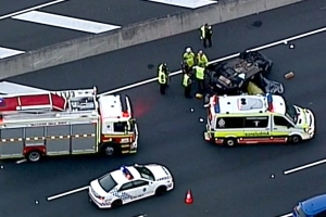 Car rolls six times in horror accident on Queensland motorway
