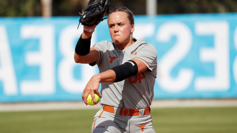 Texas Pitcher Miranda Elish 'Doing Well' After Taking Throw to Face