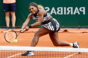 Serena Williams debuts bold zebra-striped outfit in bold fashion statement at French Open