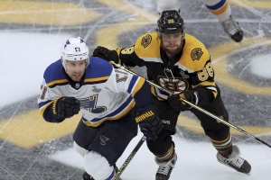 Blues beat Bruins in OT, Stanley Cup tied 1-1