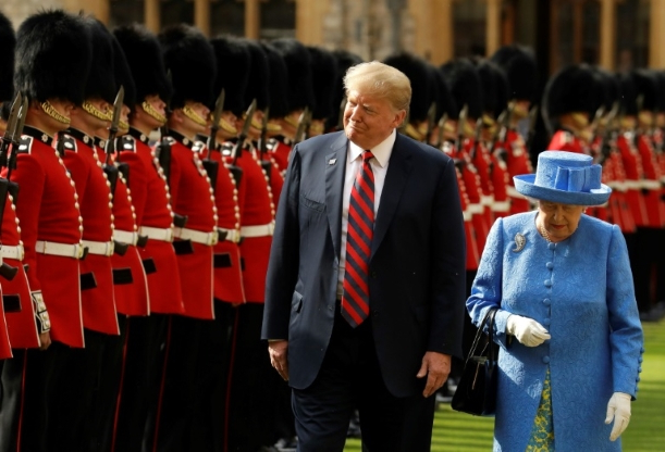 First the emperor, now the queen: Trump revels in royal splendor