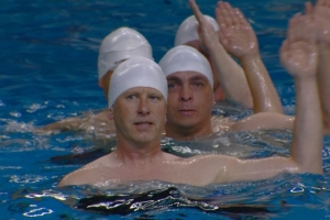 Edmonton dads dive into synchronized swimming for first time