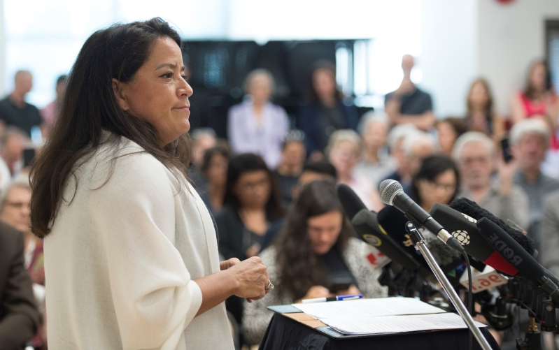 Jody Wilson-Raybould has the lead over Trudeau's Liberals