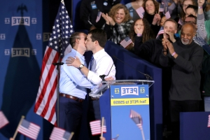 Democrat Buttigieg discusses being part of first gay couple in the White House