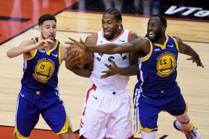 Warriors won't have Kevin Durant, Kevon Looney for Game 3 against Raptors