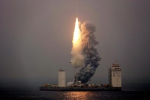 China launches space rocket from the sea for the first time