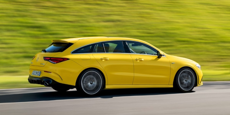 The 302-HP Mercedes-AMG CLA35 Is Now Available as a Sleek Shooting Brake