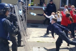 Call the riot squad! Children in Clare 'protest' over homework