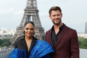 Chris Hemsworth and Tessa Thompson Address Those 'Bodyguard' Remake Rumors (Exclusive)