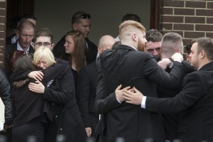 'No words can ease the pain' - hundreds gather for funeral of hit-and-run victim Gerard Whyte