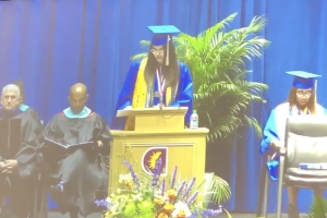 Valedictorian says school cut her mic during graduation speech as she was listing names of black teens shot by police