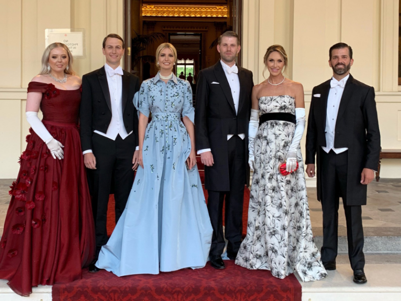 Image result for Who's Paying For Trump Jr., Eric, Lara, and Tiffany Trump's U.K. State Dinner Trip?