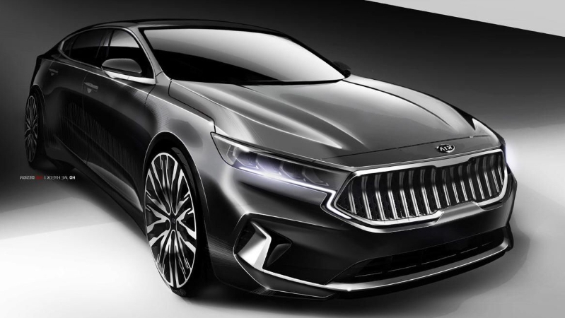 News Kia Previews Updated 2020 Cadenza In Teaser Sketches