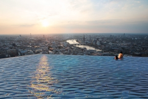 The World's First Rooftop Infinity Pool With 360-degree Views Is Coming to London