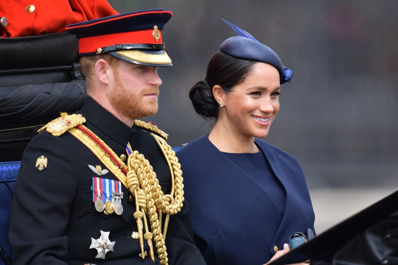 Meghan Markle Stuns In Blue For Her Second Post-Baby Appearance