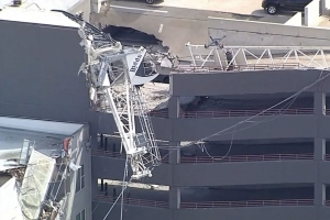 1 dead, 6 injured after crane collapses on apartment building: Police