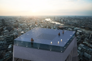Designer reveals how you get in and out of London's rooftop infinity pool
