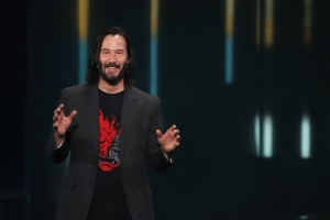 Just Keanu Reeves Telling A Crowd 'You're All Breathtaking'